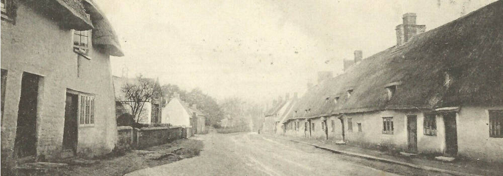 The old High Street at Great Linford, circa 1900