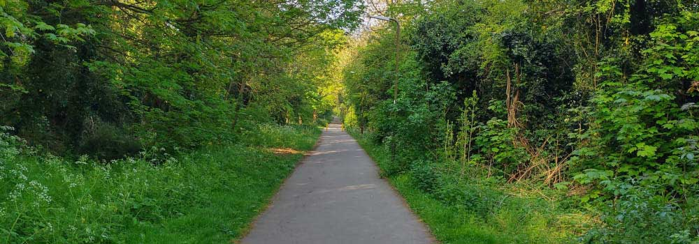 Railway Walk at Great Linford